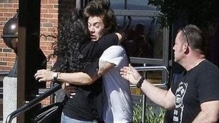 Harry Styles Gets Swarmed By Fans Moments