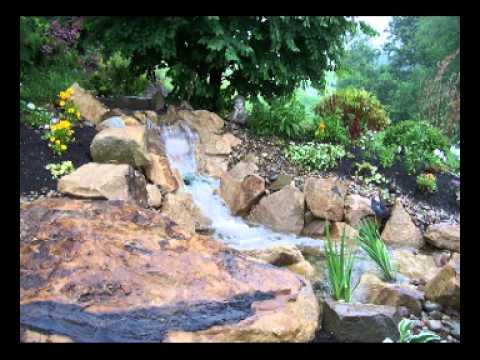 Backyard gardens ideas - Paradise In Your Backyard Ponds Streams Waterfalls Make Youtube