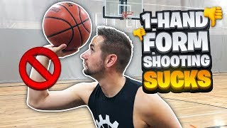 ALERT: Why 1 Hand Form Shooting SUCKS | Basketball Shooting Tips