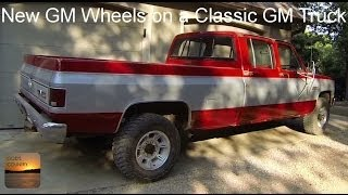 Classic GM Truck with Newer GM Wheels - Conversion Lug Nuts