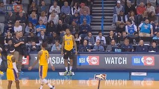 Michael Beasley Forgets To Put On He's Lakers Shorts! Lakers vs Thunder