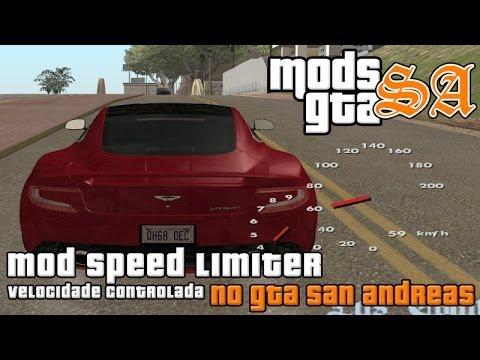 GTA SA - MOD CLEO - Speed Limiter - Velocidade Controlada - Piloto Automático
