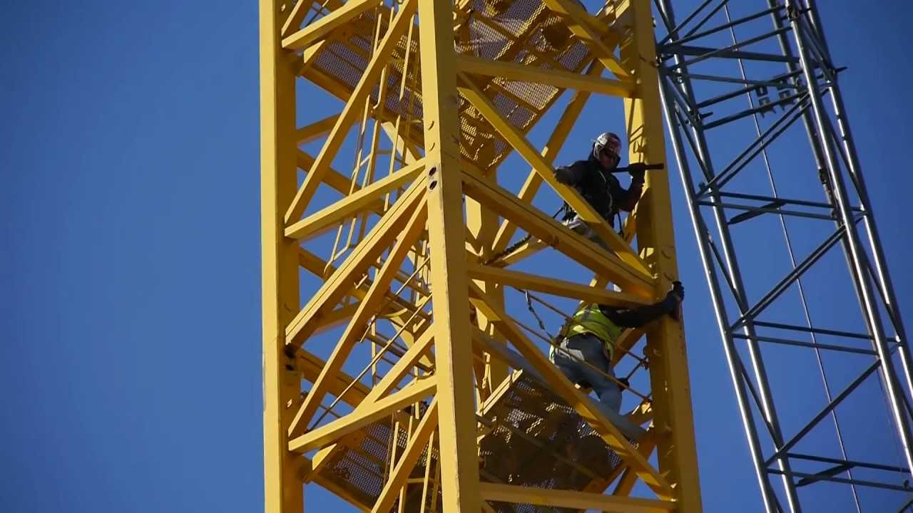 Tower Crane Requirements : Erecting the tower crane at k station