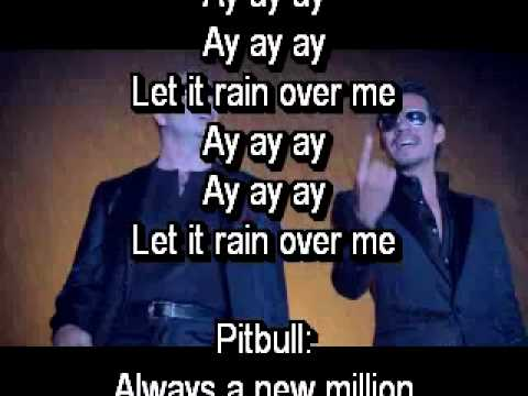 Pitbull ft. Marc Anthony- Rain over me official lyrics on screen...