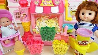 Baby doll Play Doh popcorn toys baby Doli play