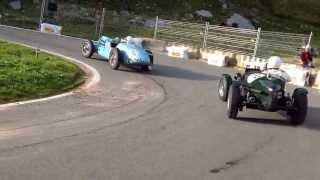 11th Klausenrennen 2013: Talbot Lago T150C, followed by Lagonda Rapier