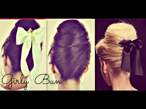 �GIRLY HAIR BUNS FOR LONG HAIR TUTORIAL| 60s EVERYDAY SOCK BUN HAIRSTYLES & UPDOS FOR PROM WEDDING