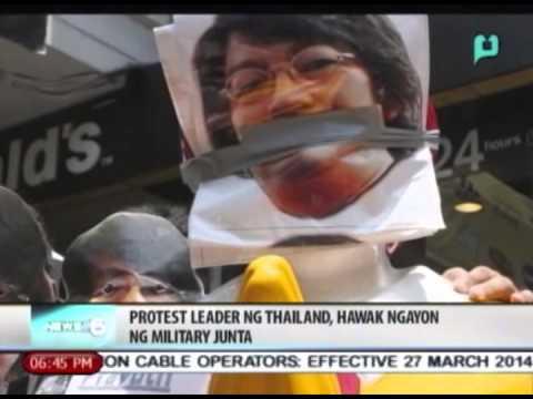 News@6: Protest leader ng Thailand, hawak ngayon ng Military Junta || June 6, 2014