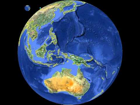 Planet Earth globe animation with country borders, rotation 360 degrees, Freeware