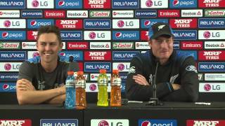 QF4 Post Match Press Conference New Zealand v West Indies   MARTIN GUPTILL & TRENT BOULT