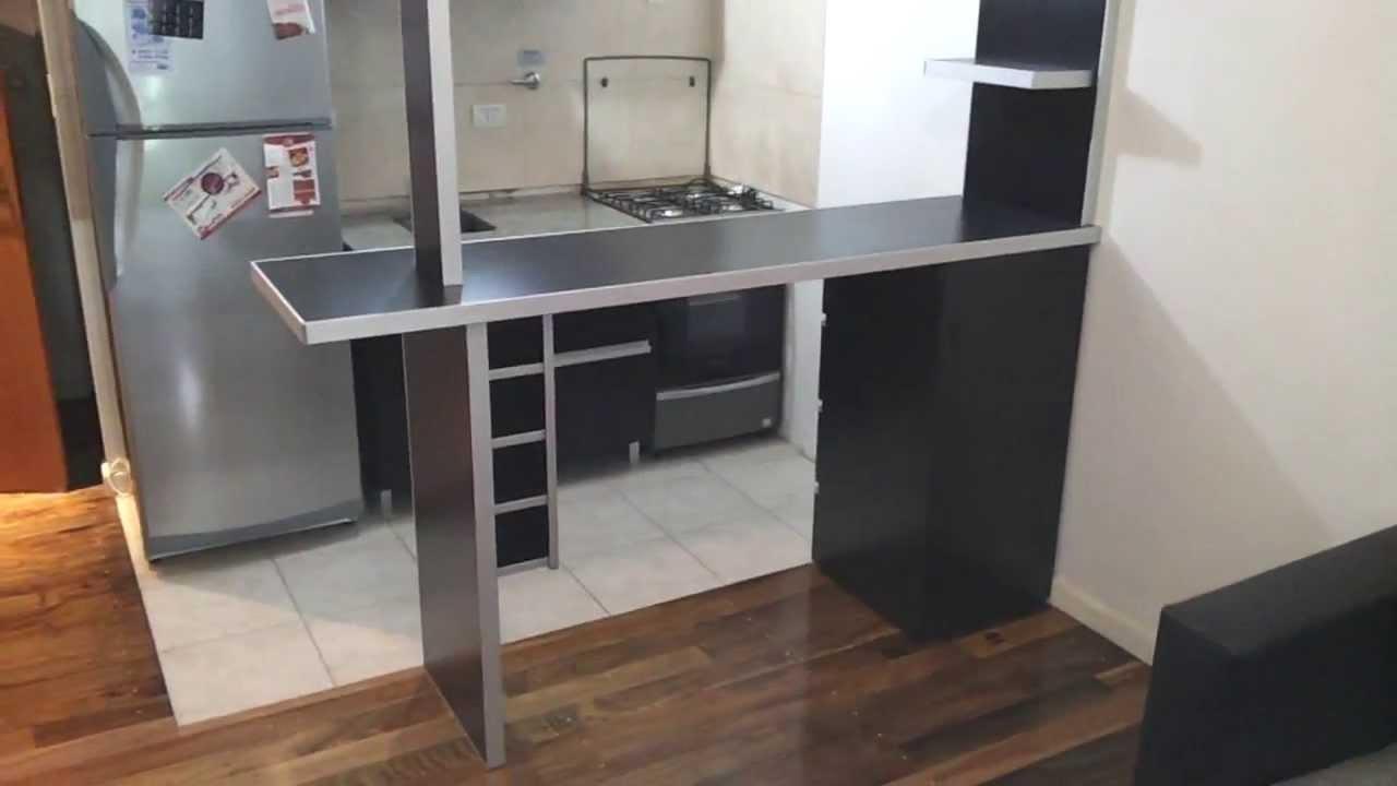 Desayunador y mueble fresno negro melamina masisa fabrica for Muebles de cocina para armar