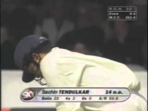 Princess Diana memorial cricket Lords 1998 Sachin Tendulkar 125 Part 1/2