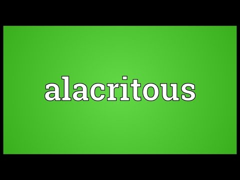 Header of Alacritous