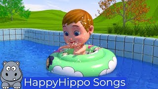 Baby Funtime Play in Pool Childrens Nursery Rhymes & Baby Songs Happy Hippo