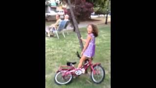 [Bike girl fail learning] Video