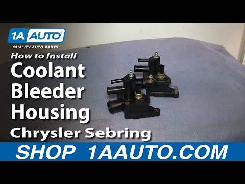 How To Install Replace 2.7L Coolant Bleeder Housing 2001-06 Chrysler Sebring