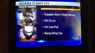 Asiana Flight 214 Pilot's Names Released FAIL