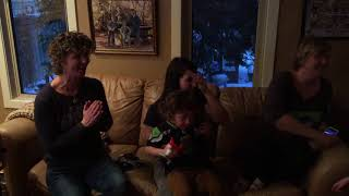 Jon Ryan's family celebrate victory