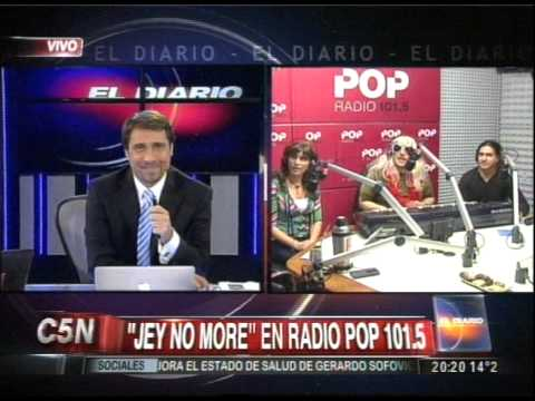 C5N - EL DIARIO: DUPLEX CON JEY NO MORE EN RADIO POP 101.5