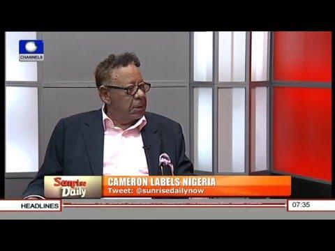 Cameron's Statement Labelling Nigeria 'Fantastically Corrupt' Is A Gaffe - Robert Clarke