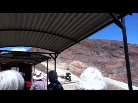 Calico & Odessa Railroad tour of Calico Ghost Town mine area