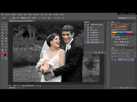 Photoshop CS6 Introductorio 14- Herramienta PIncel de Historia - History Pencil
