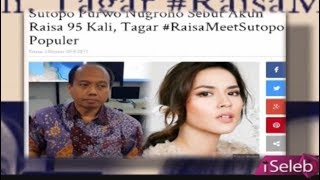 Download Lagu Ditengah Wawancara Bencana Alam, Sutopo Purwo Nugroho Dikejutkan Video Call Raisa - iSeleb 04/10 Gratis STAFABAND