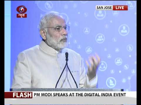 PM Modi's speech at Digital India and Digital Technology Event