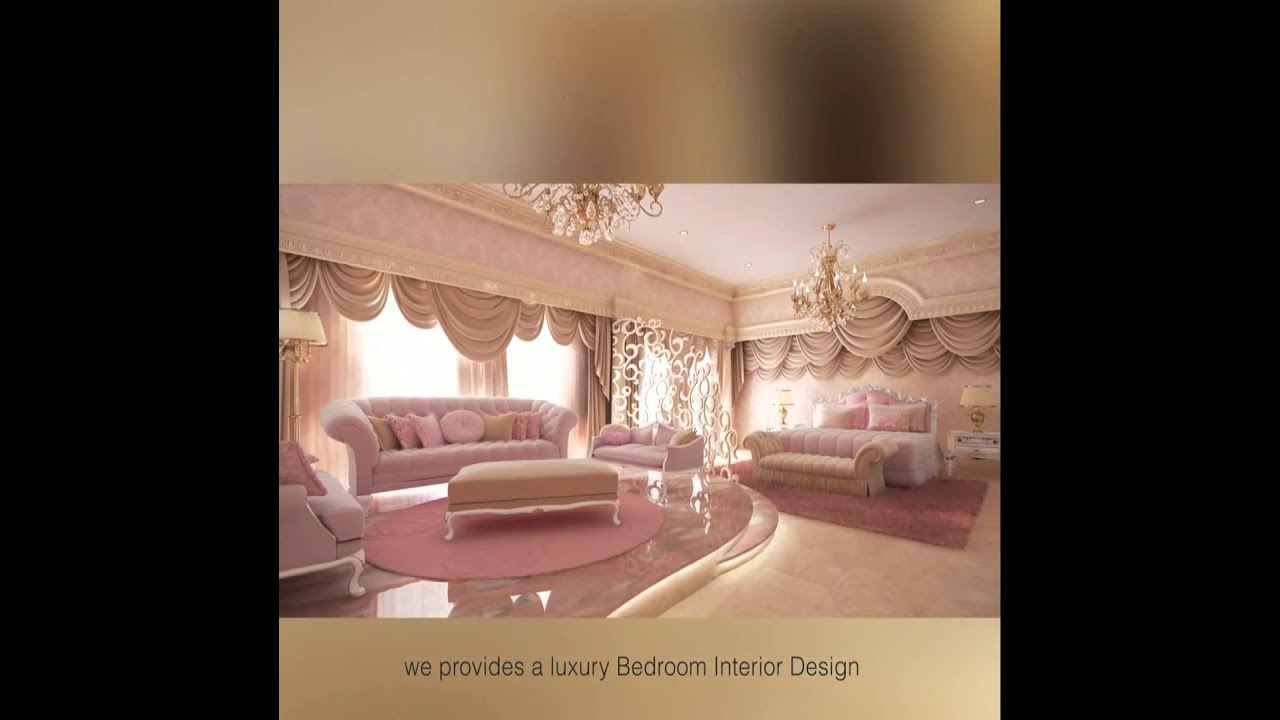 Luxury bedroom interior design youtube for Designs of the interior