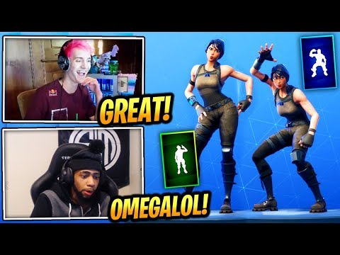 NINJA REACTS *NEW* HAND SIGNALS & HOT STUFF EMOTE/DANCE - Fortnite Epic & Funny Moments (FortniteBR)