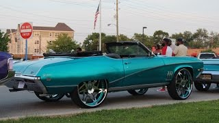 "Veltboy314 - Candy Teal Buick Skylark on 28"" Forgiato Wheels - 2016 Naptown Expo Weekend"