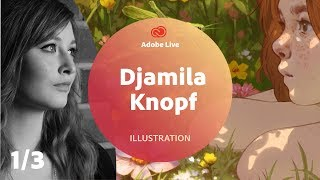 Djamila Knopf / Illustration mit Adobe Fresco - Adobe Live 1/3