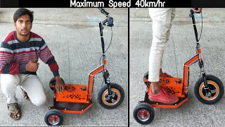 how to make 3 wheel electric scooter at home || DIY Creative Science