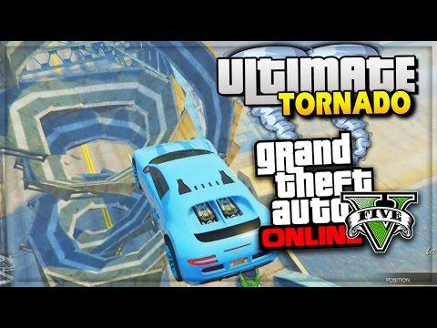 GTA 5 Funny Moments ULTIMATE TORNADO RAMP | GTA Online PS4 - (GTA 5 Online Funny Moments)