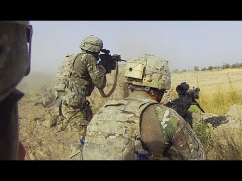 Heavy Fire Sent At Taliban Fighters During an Ambush