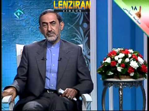 Candidate of presidency Ali Akbar Valayati explain his program on Iranian TV