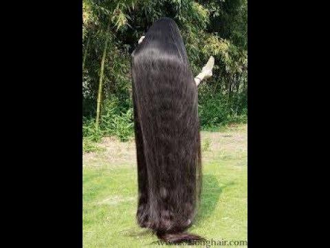 Flaunting long hair