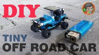 How to Make Tiny Off Road Car Toys From Cheap Lighters  | DIY TOYS !