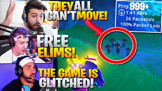 We Accidentally Joined A GLITCHED Fortnite Game! (Free Elims) ft. Ninja, Tim & Nick