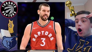 RAPTORS TRADE FOR MARC GASOL!! BLOCKBUSTER TRADE..  CAN THEY WIN THE FINALS!?!