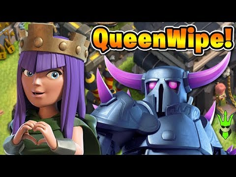 QueenWipe Smashes DE! - *NEW* TH9 Dark Elixir Farming Army - Clash of Clans - Lets Play TH9 Ep.30