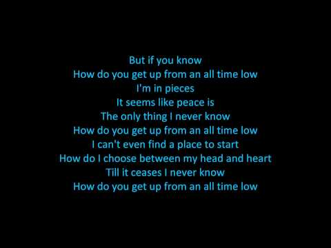 The Wanted - All Time Low (ON SCREEN LYRICS)