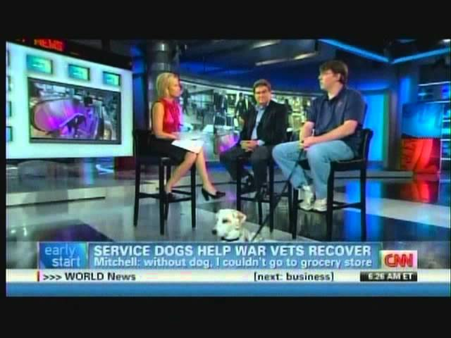Arthur E. Benjamin Discusses paws4vets with CNN