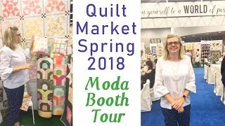 Behind the Seams Quilt Market 2018   Tour of the Moda Booth   Fat Quarter Shop