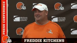 Freddie Kitchens Analyzes Kicker Situation & OBJ Returning | Cleveland Browns