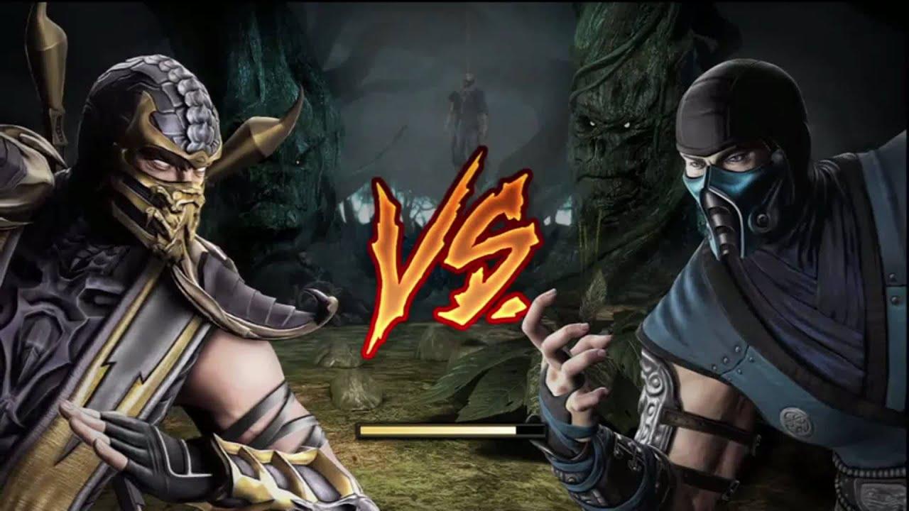 Mortal kombat 9 demo ps3 scorpion vs sub zero youtube