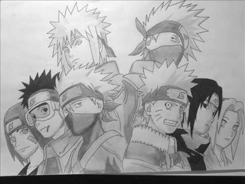 Team Minato Drawing How to Draw Team 7 Team