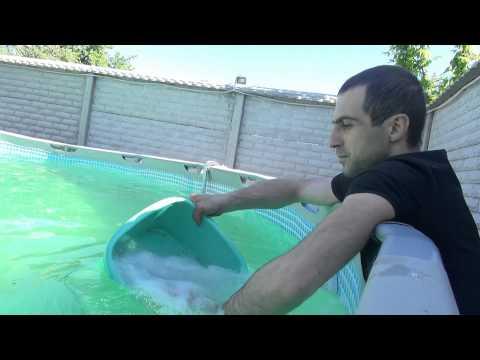 Каркасный бассейн Intex // Часть 6 // Растворяем соль в бассейне