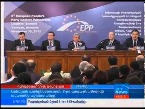 TV Coverage of the EPP Summit at the Cafesjian Center for the Arts