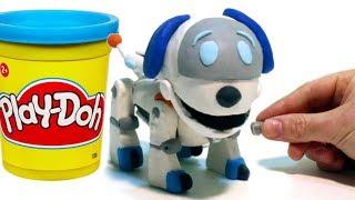 Paw Patrol Robo Dog - Superhero Play Doh Cartoons & Stop Motion Movies for kids